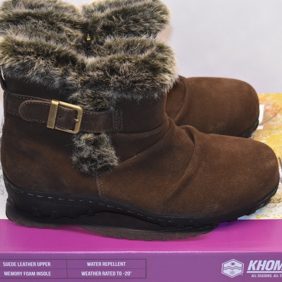 Khombu Shoes - New Women's Khombu Lindsey All Weather Boots Brown